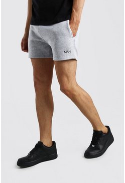 Grey marl Original MAN Short Length Jersey Shorts