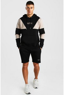 Tobacco Original MAN Multi Colour Block Short Tracksuit
