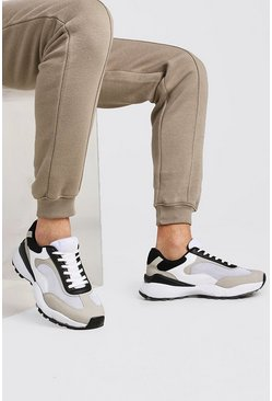 Stone Hiker Sole Panelled Sneakers