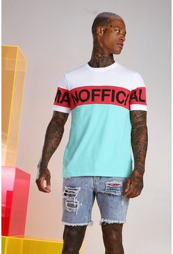 Mint MAN Official Colour Block T-Shirt
