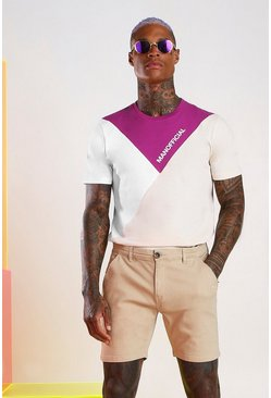 Mauve MAN Official Colour Block T-Shirt