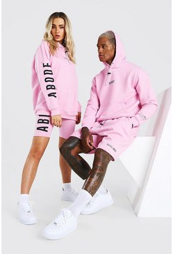 Pink Abode Ladies Hoodie And Cycling Short Set