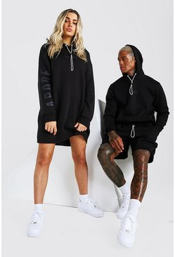Black Abode Hooded Short Tracksuit