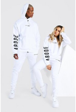 White Abode Ladies Oversized Hooded Tracksuit
