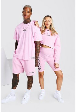 Pink Abode Oversized Tee