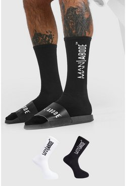 Black Abode 2 Pack Socks