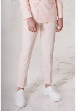 Light pink Skinny Plain Suit Pants