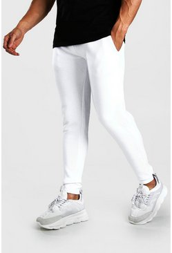 White Basic Skinny Fit Jogger