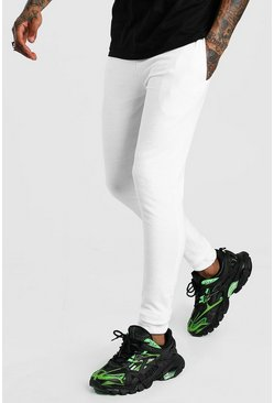 White Basic Super Skinny Fit Jogger