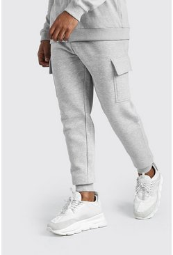 Grey MAN Signature Slim Fit Cargo Joggers
