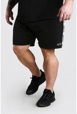 Black MAN Dash Jersey Shorts With BEAST Tape