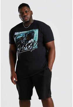 Black Big & Tall Snoop Car License T-Shirt