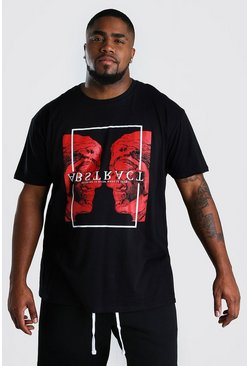 Black Big & Tall Abstract Statue Print T-Shirt