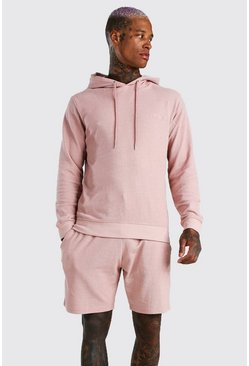 Mauve MAN Signature Pique Hooded Short Tracksuit