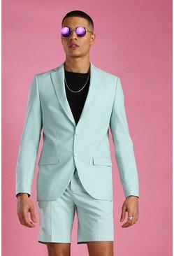 Mint Skinny Plain Suit Jacket