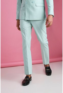 Mint Skinny Plain Suit Trouser