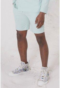 Mint Skinny Plain Tailored Suit Shorts