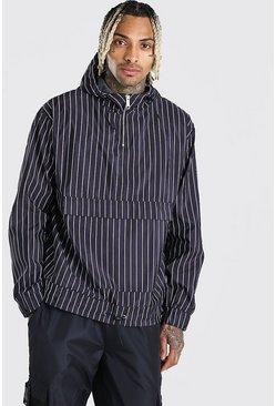 Stripe MAN Branded Printed Overhead Cagoule