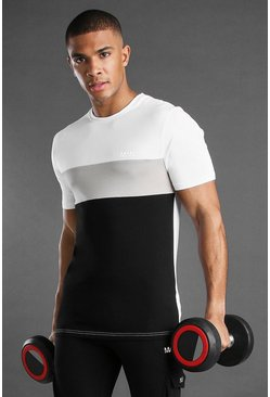 Black MAN Active T-Shirt With Panels