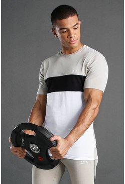 White MAN Active T-Shirt With Panels