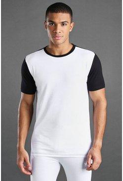 Black MAN Active Muscle Fit Colour Block T-Shirt