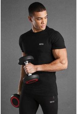 Black MAN Active Muscle Fit Raglan T-Shirt