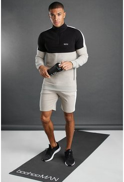 Ensemble short 1/4 zippé MAN Active, Roche