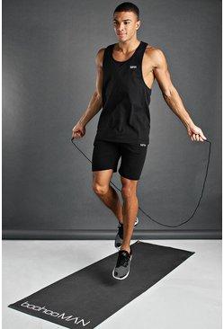 Black MAN Active Vest & Short Set
