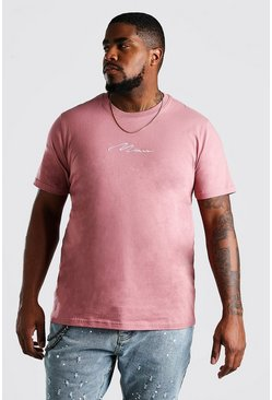 Mauve Big And Tall MAN Signature T-Shirt