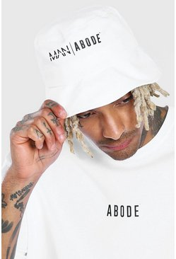 White Abode Bucket Hat