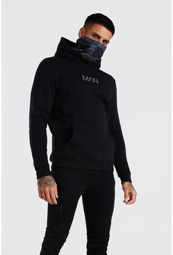 Black MAN Official Hoodie With Bandana Snood