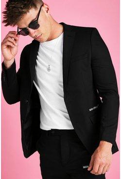 Black MAN Official Skinny Plain Suit Jacket