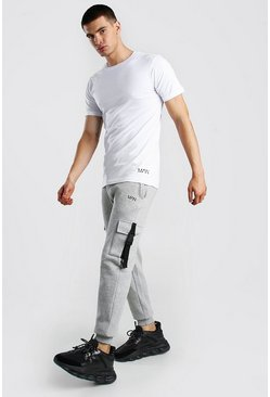 Grey marl Original MAN Cargo Buckle Jogger