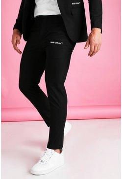Black Man Official Skinny Plain Suit Pants