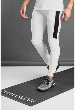 Jogging coupe moulante MAN Active avec empiècements, Blanc