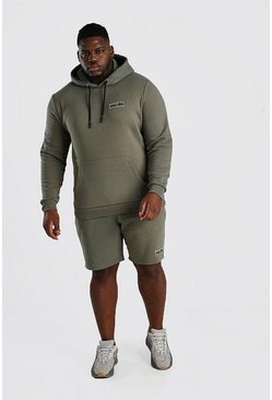 Sage Big And Tall Hooded Short Tape Tracksuit