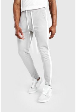 Stone MAN Tricot Skinny Tonal Panel Joggers With Zips