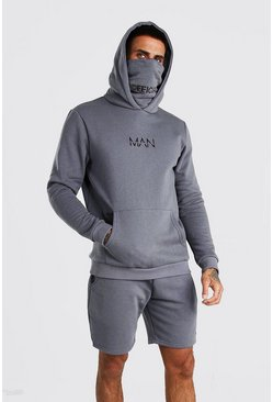 Slate MAN Snood Hooded Short Tracksuit