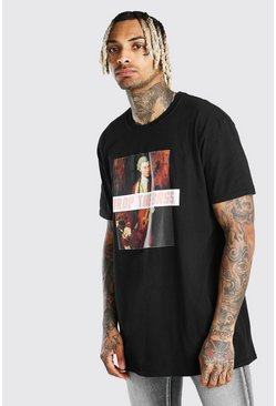 Black Oversized National Portrait Gallery Meme T-Shirt