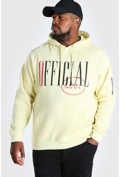 Yellow Big And Tall Official MAN Hoodie