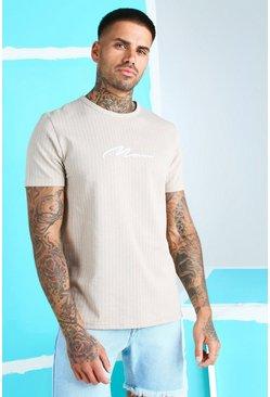 Stone MAN Signature Jacquard Pinstripe T-Shirt