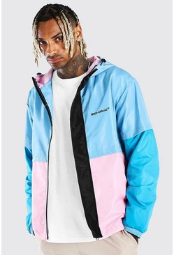 Multi MAN Official Colour Block Zip Through Cagoule