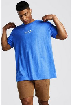Light blue Oversized Original MAN Blue Marl T-Shirt
