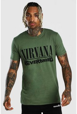 Green Nirvana Nevermind License T-Shirt