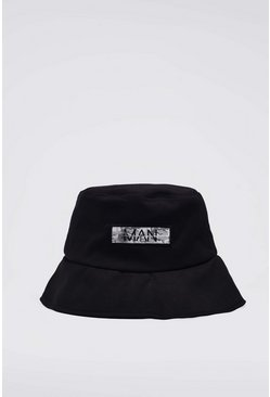Black Camo Patch Bucket Hat