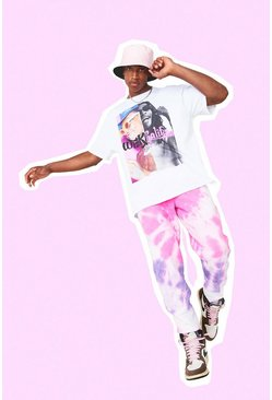 Pink Regular Man Official Tie Dye Joggers