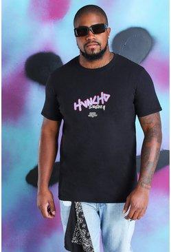 Black Big And Tall Quavo T-Shirt With Huncho Print