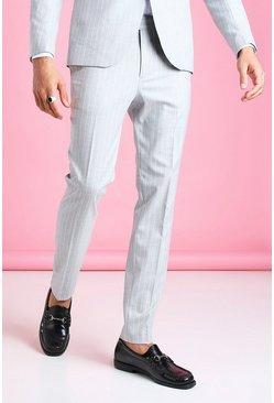 Light grey Skinny Pinstripe Suit Pants