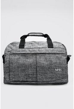 Grey Textured Multi Pocket Holdall