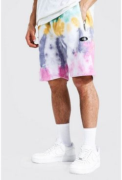 Multi Regular Official Man Tie Dye Zip Shorts